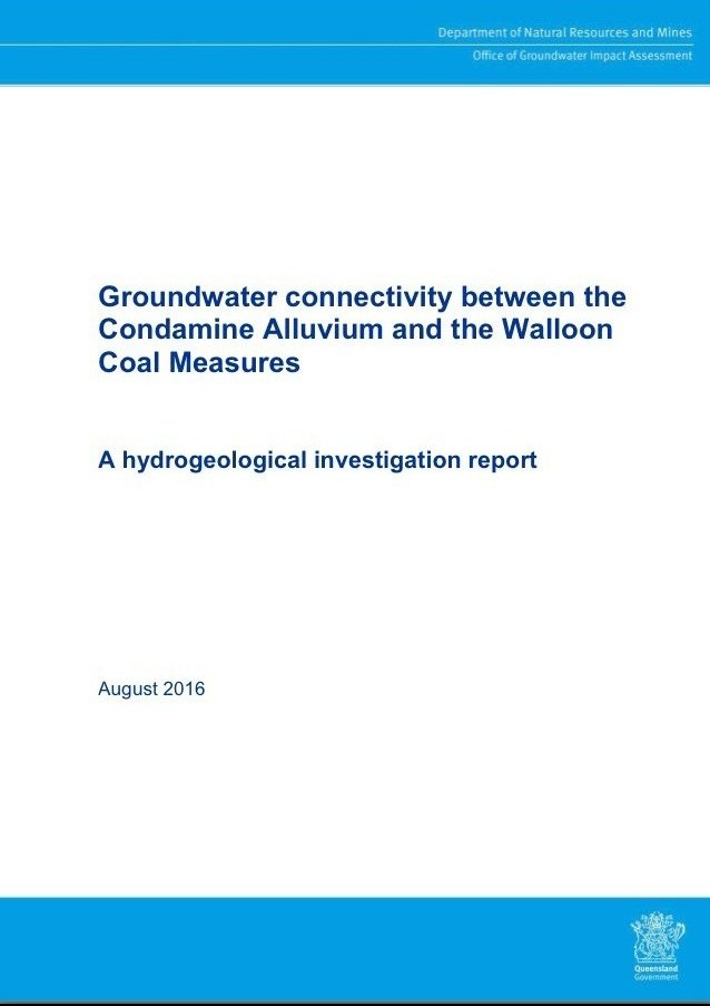 Groundwater connectivity between the Condamine Alluvium and the Walloon Coal Measures