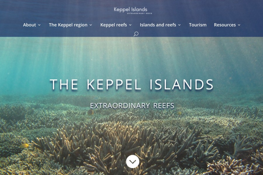 Keppel Islands HOME page screenshot